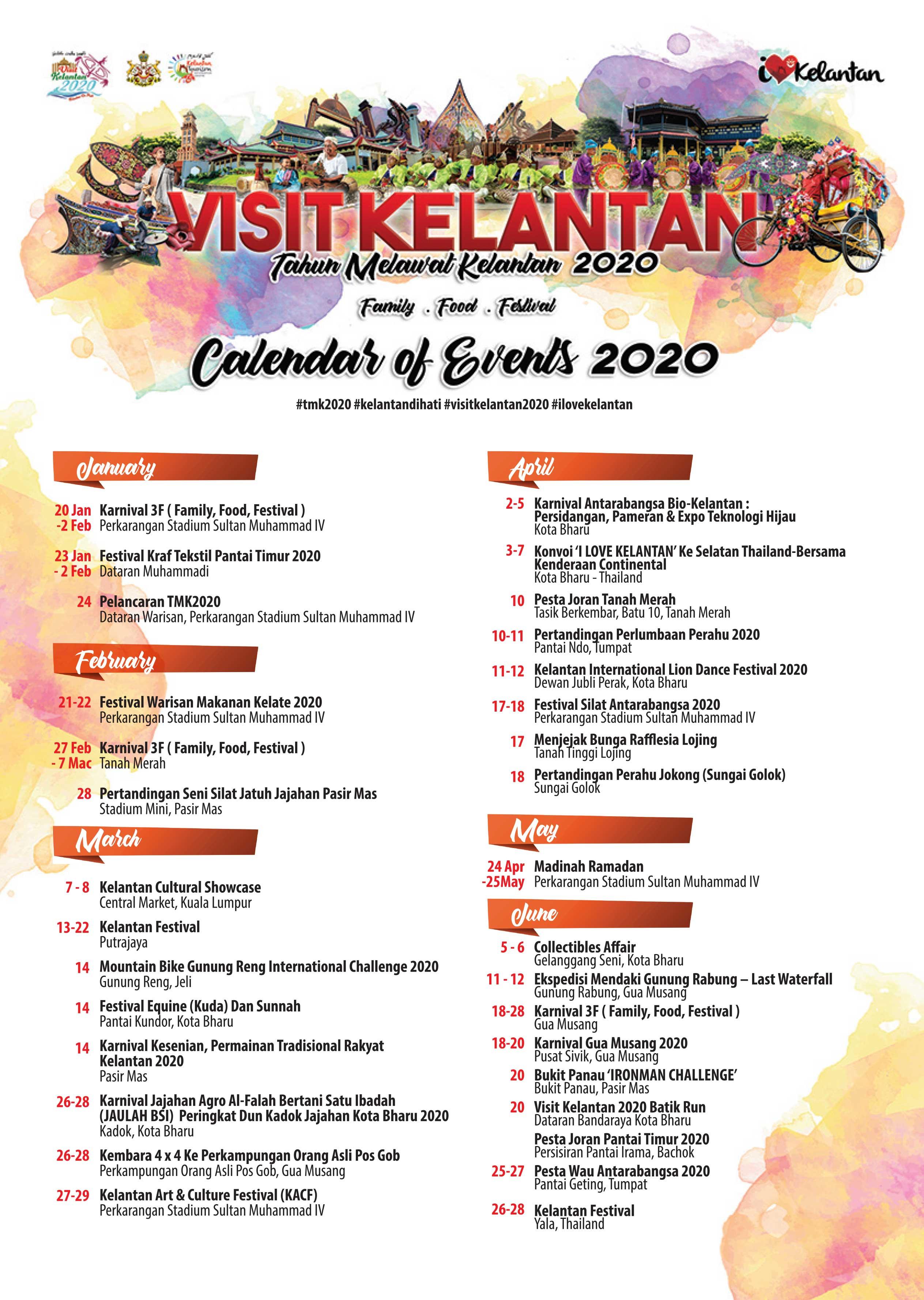 Kalendar Tahun Melawat Kelantan 2020