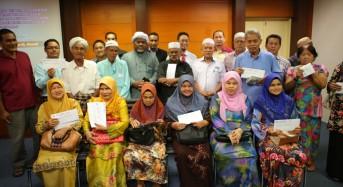 AKSB bayar pampasan RM 556,100.01 kepada penduduk Chetok Pasir Mas