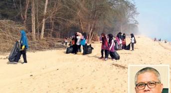 Pantai Sri Tujoh ditutup angkara sampah berselerak