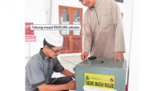 Kutipam tabung masjid RM30,000 sebulan