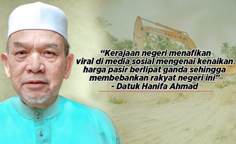 Kerajaan Kelantan nafi viral kenaikan harga pasir