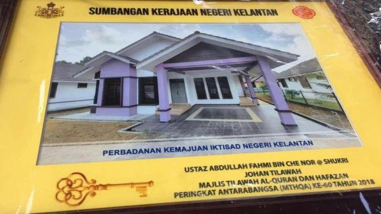 KELANTAN : Rumah 423K Untuk Johan Qari Antarabangsa, Mengapa Tidak Seheboh 328K Mercedes?