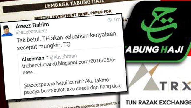 TH jual tanah yang dibeli dari 1MDB